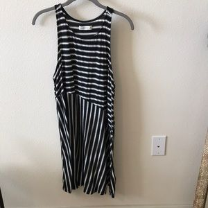 Abercrombie Black and White Striped Dress